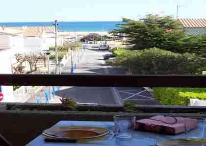 Uitzicht vanaf het balkon  Studio 10498 Saint Pierre la Mer