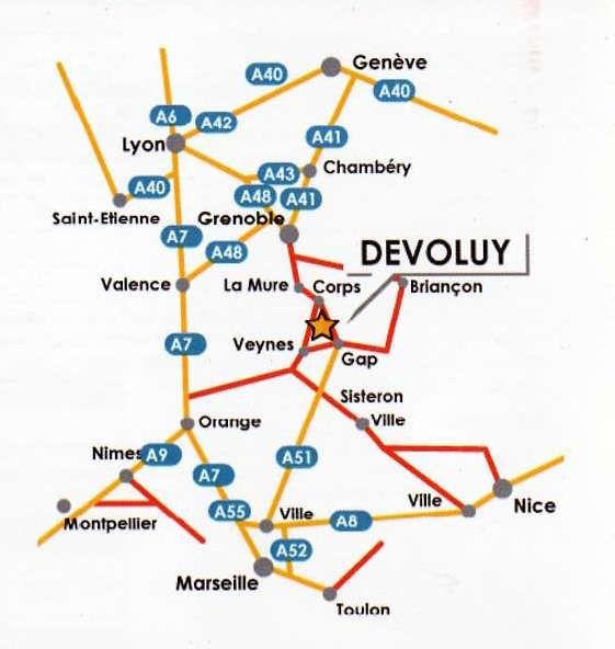 Kaart  Appartement 17157 Superdévoluy- La Joue du Loup