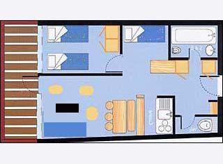 Plattegrond van de woning  Appartement 28016 Les Arcs