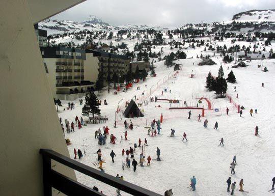 Uitzicht vanaf het balkon  Studio 3965 Arette La Pierre Saint Martin