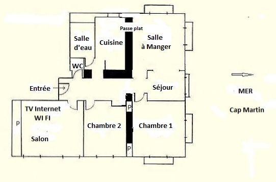 Plattegrond van de woning  Appartement 99643 Menton