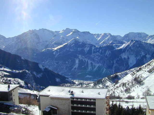 Uitzicht vanaf het terras  Appartement 64 Alpe d'Huez