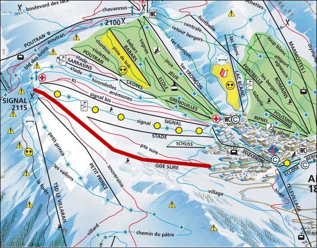 Kaart  Appartement 64 Alpe d'Huez