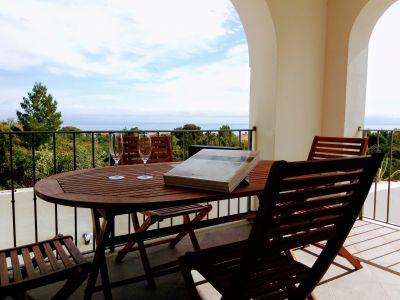 Uitzicht vanaf het terras  Appartement 77177 Cala Gonone