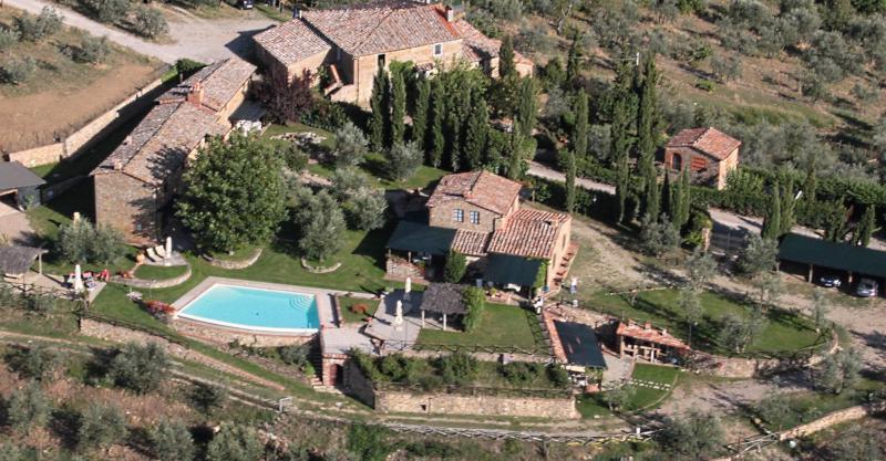 Uitzicht vanaf de woning  Vakantiehuis 65957 Siena