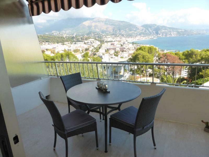 Uitzicht vanaf het terras  Studio 94016 Roquebrune Cap Martin