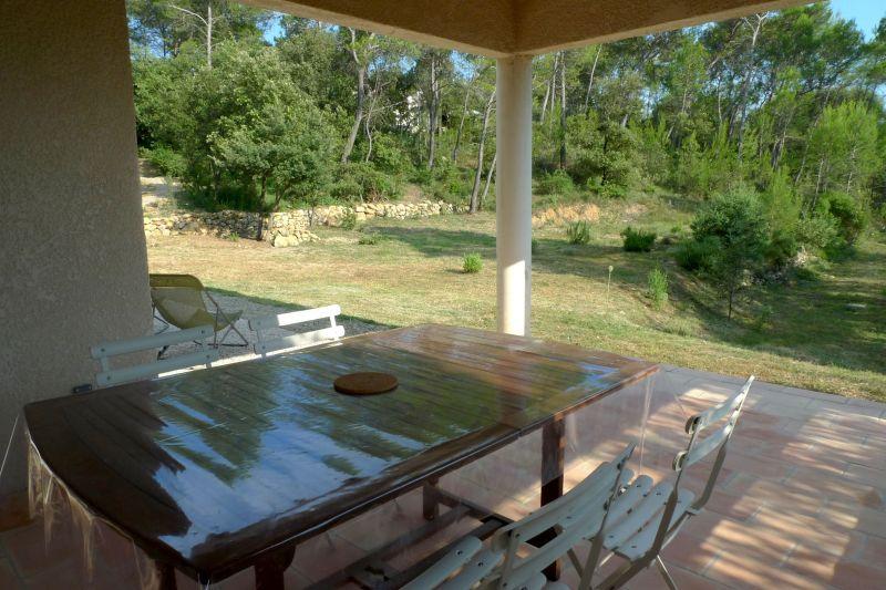 Uitzicht vanaf het terras  Villa 115618 Lorgues