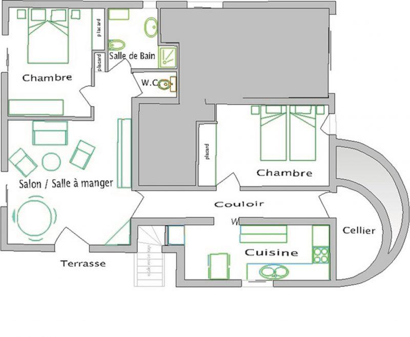 Plattegrond van de woning  Appartement 106323 Antibes
