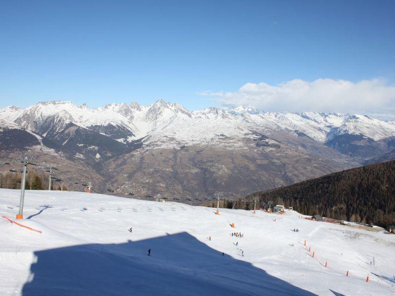 Uitzicht vanaf het terras  Appartement 112379 La Plagne