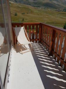 Uitzicht vanaf het terras  Studio 116847 Alpe d'Huez