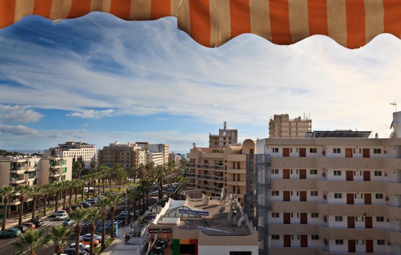 Uitzicht vanaf het balkon  Studio 70234 Playa de las Américas