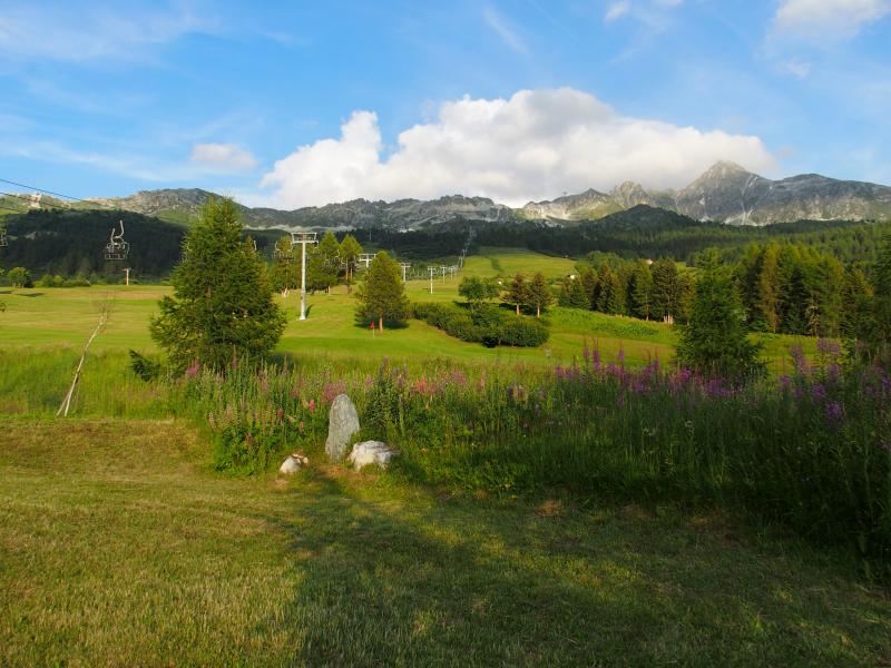 Uitzicht vanaf het terras  Chalet 136 Les Arcs
