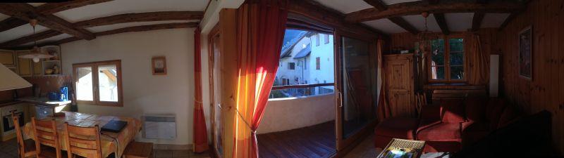 Uitzicht vanaf het balkon  Appartement 14750 Serre Chevalier