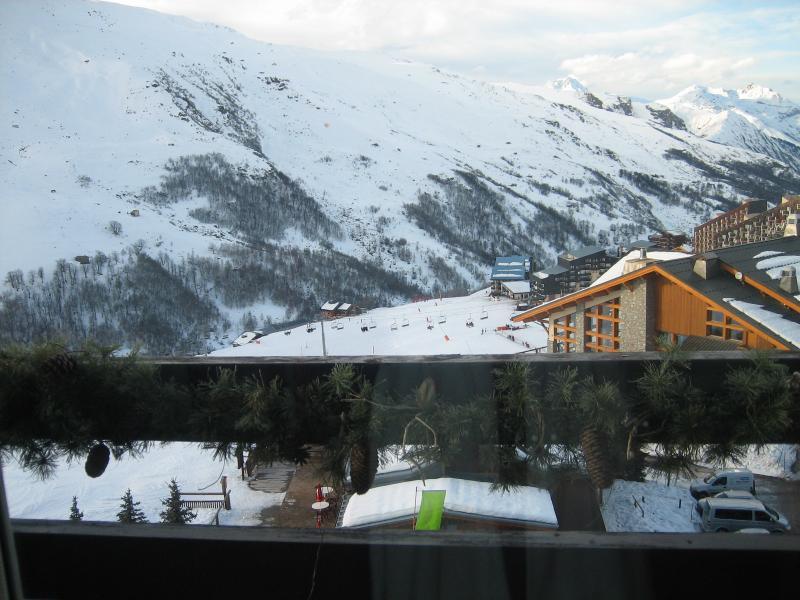 Uitzicht vanaf het balkon  Studio 1628 Les Menuires
