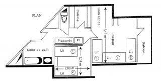 Plattegrond van de woning  Appartement 2147 La Plagne