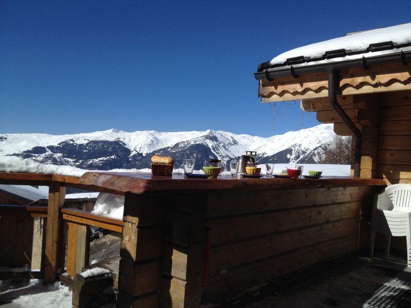Uitzicht vanaf het terras  Chalet 2248 La Plagne