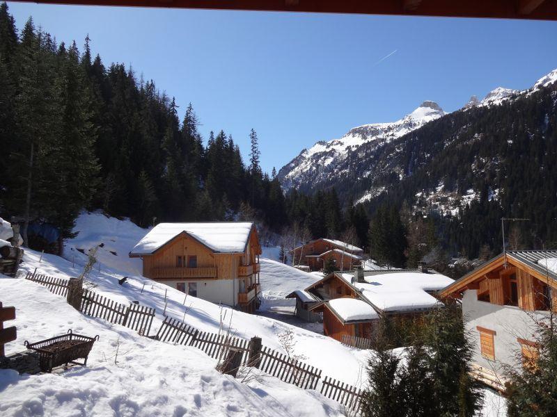 Uitzicht vanaf het terras  Chalet 3291 Valfréjus