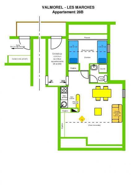 Plattegrond van de woning  Appartement 3498 Valmorel