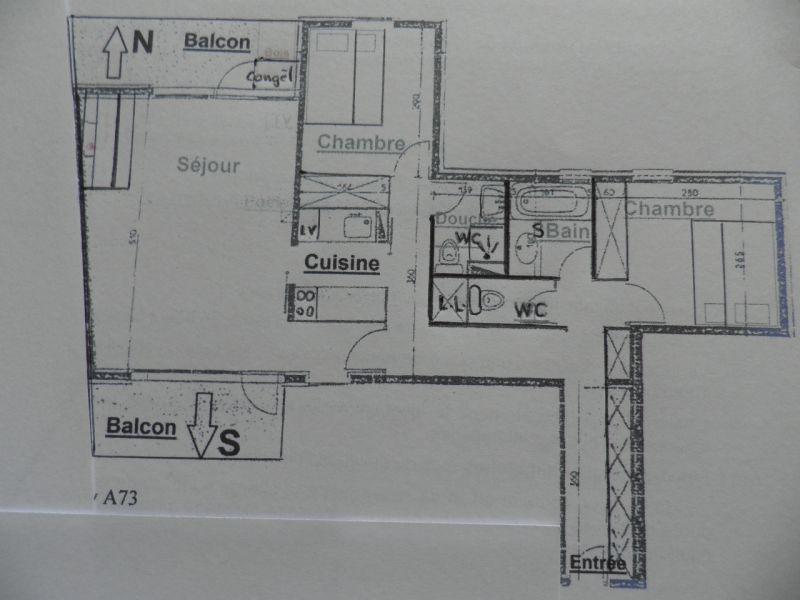 Plattegrond van de woning  Appartement 58207 La Plagne