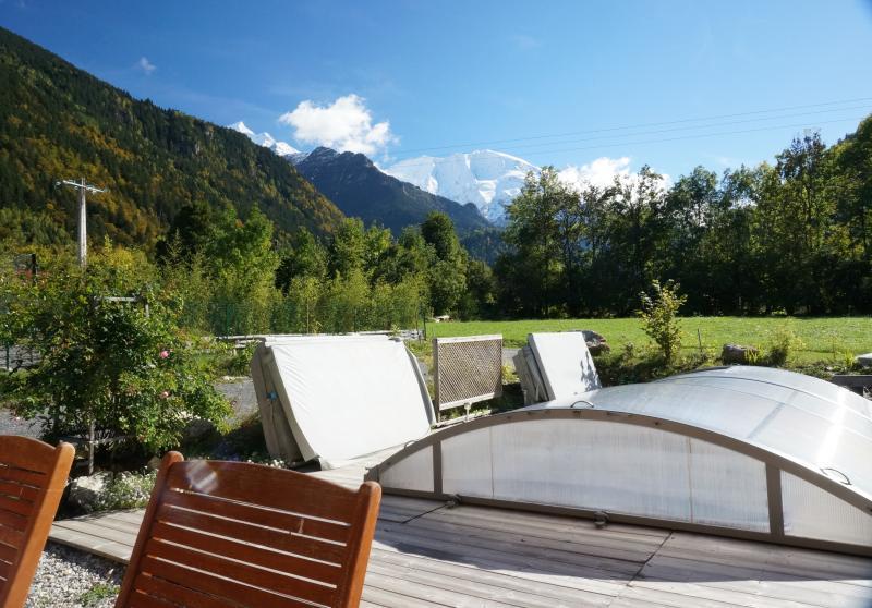 Uitzicht vanaf het terras  Appartement 59034 Saint Gervais Mont-Blanc