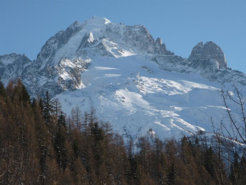 Uitzicht vanaf het terras  Chalet 706 Chamonix Mont-Blanc