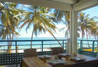Uitzicht vanaf het terras  Appartement 108495 Sainte Anne(Guadeloupe)