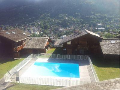 Uitzicht vanaf het balkon  Studio 86819 Saint-Gervais-les-Bains