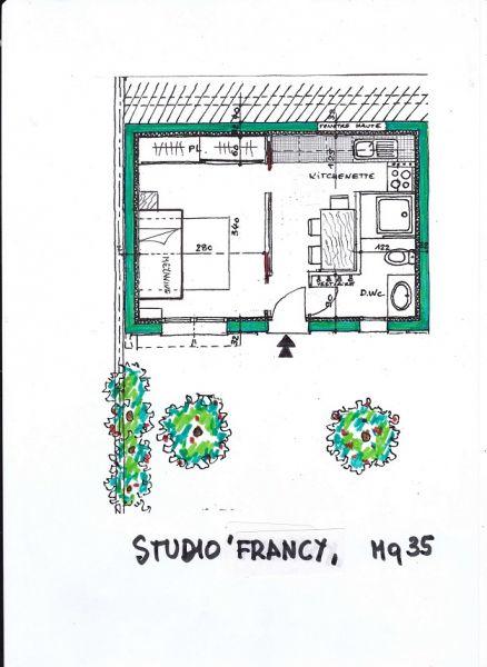 Plattegrond van de woning  Appartement 73307 Nice