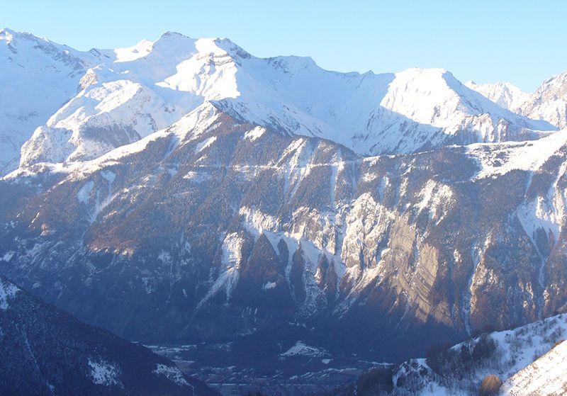 Uitzicht vanaf het balkon  Appartement 64 Alpe d'Huez