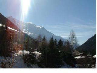 Uitzicht vanaf het terras  Appartement 650 Chamonix Mont-Blanc