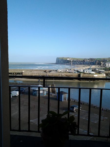 Uitzicht vanaf het balkon  Appartement 101851 Le Tréport