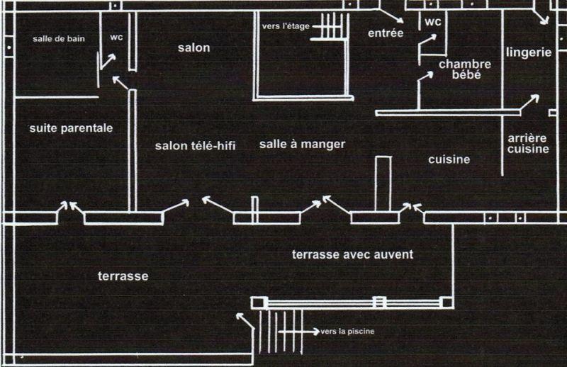 Plattegrond van de woning  Villa 108337 Fayence