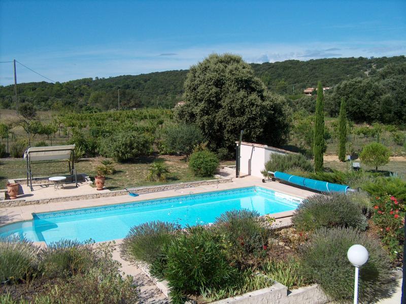 Uitzicht vanaf het balkon  Villa 83534 Anduze