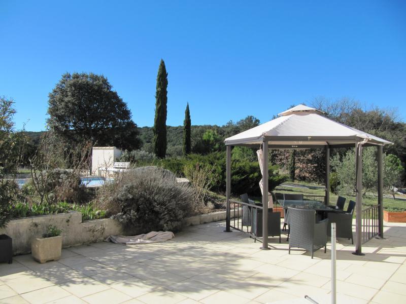 Uitzicht vanaf het terras  Villa 83534 Anduze