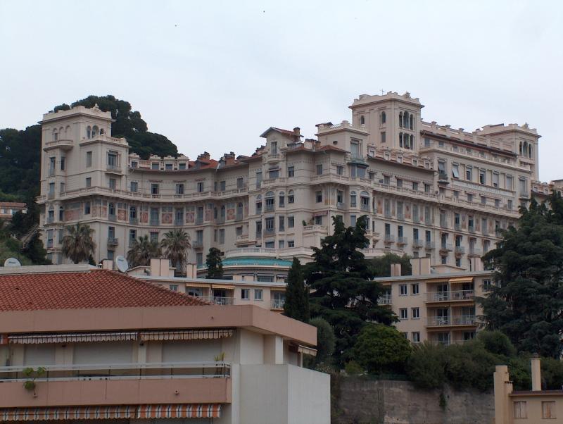 Uitzicht vanaf het balkon  Appartement 77050 Menton