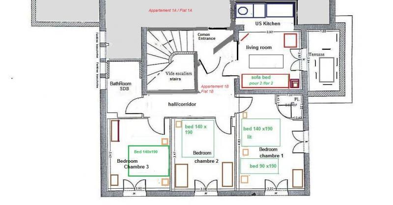 Plattegrond van de woning  Appartement 82036 Nice