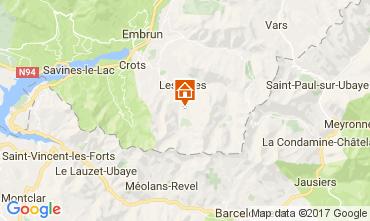 Kaart Les Orres Appartement 111752