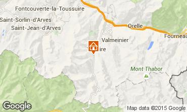 Kaart Valloire Chalet 3373