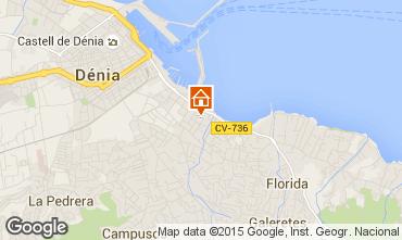 Kaart Dénia Appartement 71551