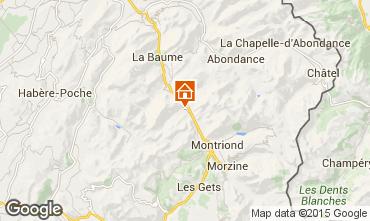 Kaart Saint Jean d'Aulps- La Grande Terche Appartement 85484