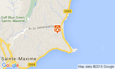 Kaart Sainte Maxime Huis 104932
