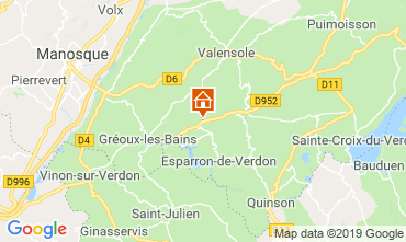 Kaart Gréoux Les Bains Vakantiehuis 111014
