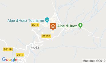 Kaart Alpe d'Huez Appartement 117395