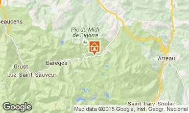 Kaart La Mongie Appartement 50729