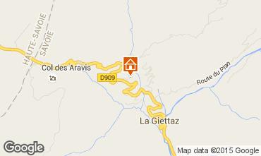 Kaart La Giettaz en Aravis Appartement 68773