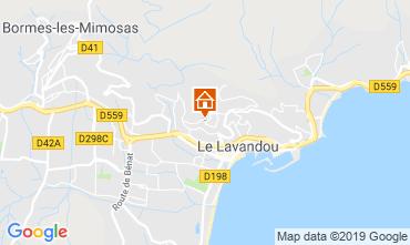 Kaart Le Lavandou Appartement 119010