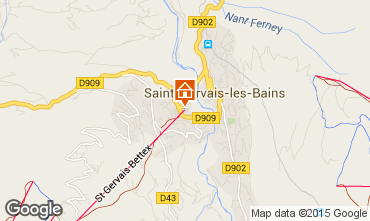 Kaart Saint Gervais Mont-Blanc Appartement 59536