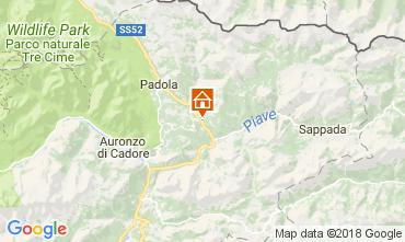 Kaart Santo Stefano di Cadore Appartement 112842