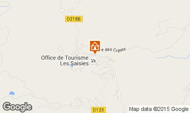 Kaart Les Saisies Studio 2708