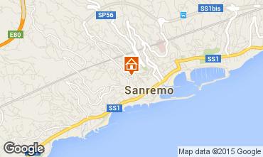 Kaart Sanremo Appartement 87358